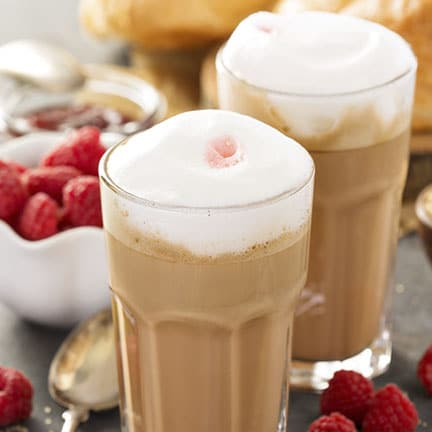 Iced Raspberry White Chocolate Mocha