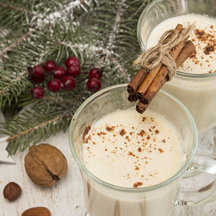 Hot Egg Nog Steamer